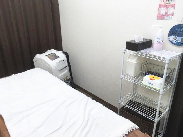 リンリンの施術ベッド